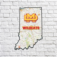 Mater Dei Wildcats Indiana Map