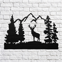 Deer with Mountains