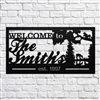 Custom Metal Welcome Sign