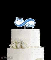 Couple's Infinity Cake Topper