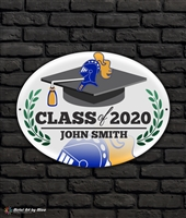 2020 Castle Graduation Metal Plaque