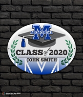 2020 Memorial Graduation Metal Plaque