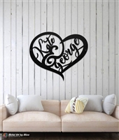 Couple's Heart Metal Sign