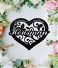 Couple's Heart Metal Monogram