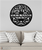 Custom Tree of Life Metal Monogram
