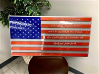 Metal Pledge of Allegiance USA Flag