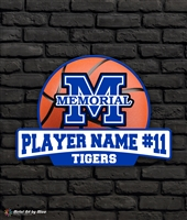 Custom Memorial Tigers Basketball