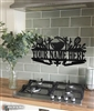 Custom Kitchen Metal Monogram