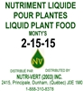 Monty's 2-15-15 Liquid Fertilizer