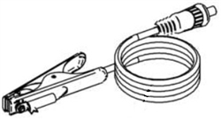 Lincoln Electric Ground Cable and Clamp, 10' with 50mm Twist Mate™ plug