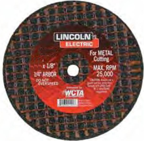 3/8 Arbor Lincoln Electric KH134 Abrasive Cut-Off Wheel Pack of 5 ...