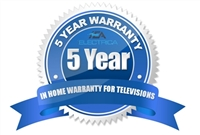 5 Year In Home Warranty for televisions (Under $1,500)