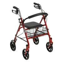 Rollator with removable back support
