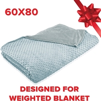 Soft Touch Weighted Blanket Cover - Duvet Cover ONLY - 60 x 80 Inches - Designed for Weighted Blanket Adult