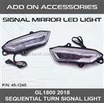 SHIPS AFTER 4/14/2021 - GL1800 2018+ LED MIRROR LIGHTS W/DRL & SEQUENTIAL TURN SIGNAL [ADD ON]