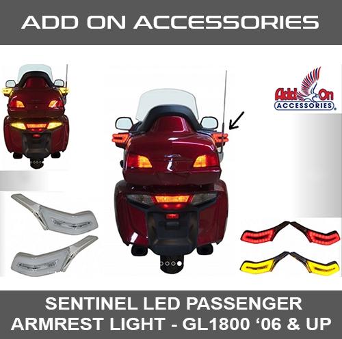 Sentinel LED Passenger Armrest Light '06 & UP GL1800 [ADD-ON]