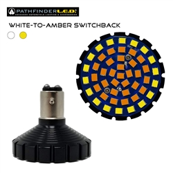 BULLET-STYLE 1157 LED WHITE-TO-AMBER SWITCHBACK BULB
