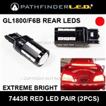SHIPS AFTER 05/10/2021 - GL1800/F6B - RED RUNNING/BRAKE/SADDLEBAG LIGHT - LED UPGRADE [PAIR]