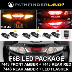 SHIPS AFTER 03/15/2020 - F6B LED CONVERSION PKG [7443 RED+7443 AMBER/LED FLASHER]