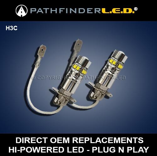 H3C50W MADE BY SOCALMOTOGEAR GOLDWING GL1800 50 Watt H3 LED Fog Light Bulb
