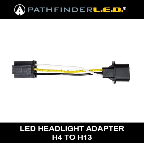 H4 TO H13 LED HEADLAMP ADAPTER H Wiring Harness Standard on