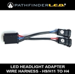 H9/H11 TO H4 - LED HEADLIGHT WIRE HARNESS ADAPTER