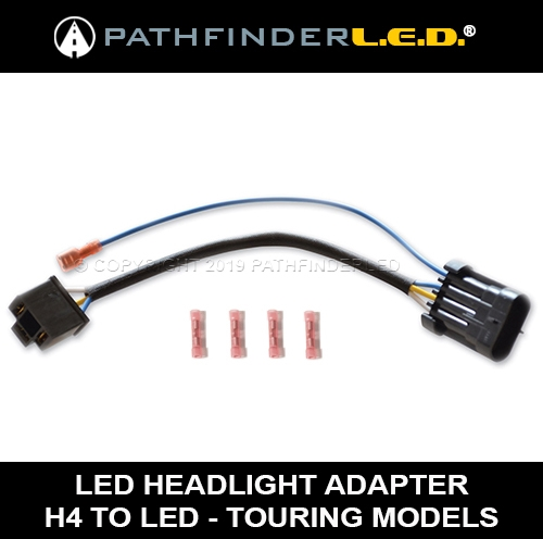 H42LED 2?1509798046 harley led headlamp wiring harness harley lighting h4 wiring harness at soozxer.org