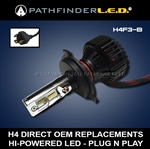 H4 HI/LO - LED HEADLAMP BULB REPLACEMENT 2000LM - PLUG N PLAY