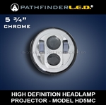 [5 3/4] HIGH DEFINITION LED HEADLAMP - CHROME OR BLACK