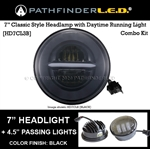"7"" INCH CLASSIC LED [COMBO] W/4.5"" PASSING LIGHTS [BLACK OR CHROME]"