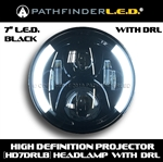 "[Daytime Running Lights] 7"" LED W/DRL HEADLAMP - BLACK OR CHROME"