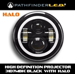 "SHIPS AFTER 04/20/20 [HALO] HD7MBH - 7"" LED HIGH DEFINITION PROJECTOR HEADLAMP"