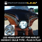 Harley Dual-Bulb L.E.D. KIT [HI/LO Beam LED] H8/H9/H11 APPLICATIONS