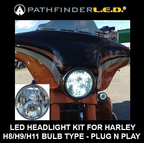 Dual-Bulb L E D  KIT [HI/LO Beam LED] H8/H9/H11 APPLICATIONS For Harley