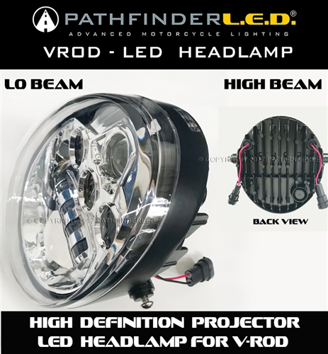 LO U0026 HI BEAM LED HEADLAMP ...