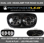 [NEW] DUAL LED HEADLAMP FOR ROAD GLIDE - BLACK OR CHROME