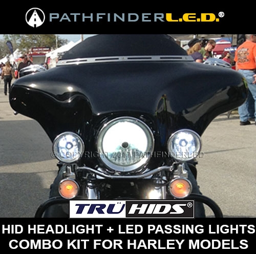 [SEE RECOMMENDED] Bi-Xenon HID+LED Passing lights Combo Kit For Harley