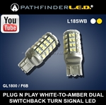 SHIPS AFTER 12/25/2020 - GL1800/F6B SWITCHBACK LED TURN SIGNAL BULBS [WHITE/AMBER]