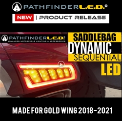 GOLD WING 2018-2021 - REAR SADDLEBAG DYNAMIC SEQUENTIAL LED