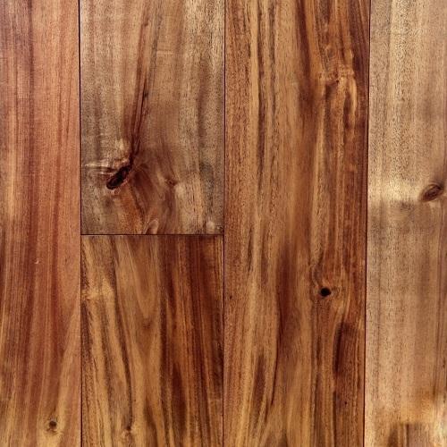 "handscraped solid acacia hardwood floors, 5""x3/4""xrl, natural"