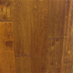 "Engineered Birch Handscraped Flooring, 3/8""x5""xRL,Leather"