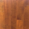 "Engineered Birch Handscraped Flooring, 3/8""x5""xRL,Sangria"