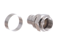 F-Type Connector w.1/4 in Crimp Ring for RG11 Cable