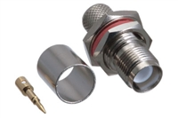 RP TNC Bulkhead Female Crimp Connector - LMR-400