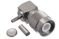 TNC Male Right Angle Connector - RG174 RG188 RG316 & LMR-100