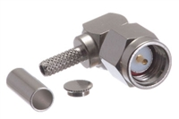 SMA Male Right Angle Crimp Connector - RG174 RG188 RG316 & LMR-100