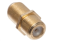 F-Type Female to F-Type Female Inline Splice Coupler - Gold Plated