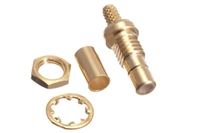 SMB Female Bulkhead Crimp Connector - RG174 & LMR-100
