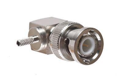 BNC Male Right Angle Crimp Connector - RG-174 & LMR-100