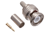 BNC Male Crimp Connector - RG58 & LMR-195 PVC